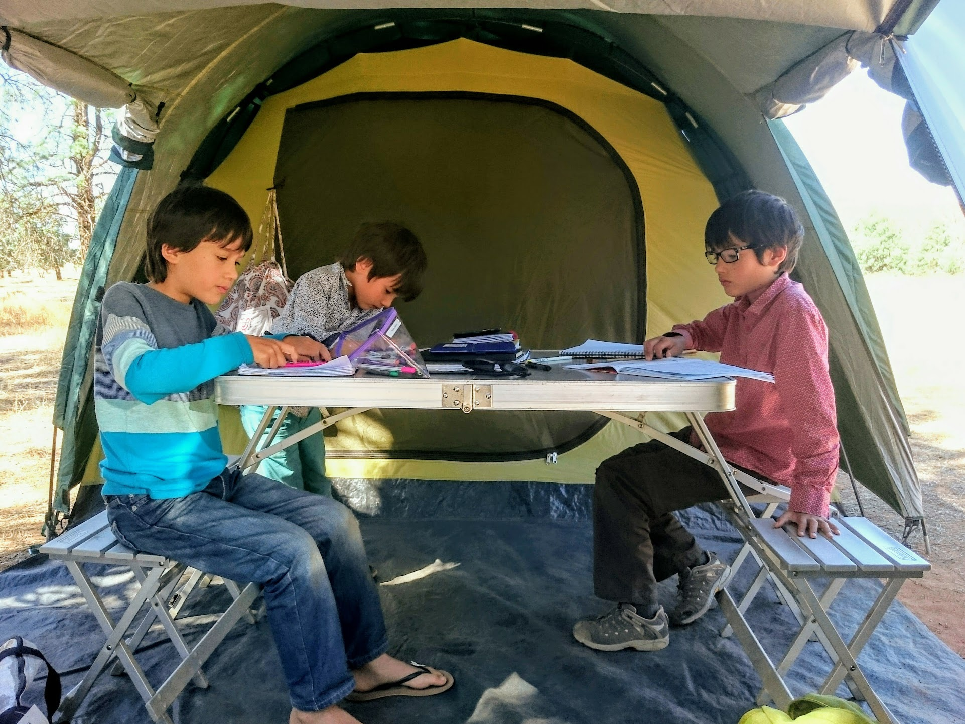 Tent schooling in the Outback.